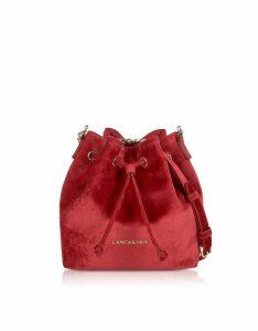 Lancaster Paris Velvet Small Bucket Bag