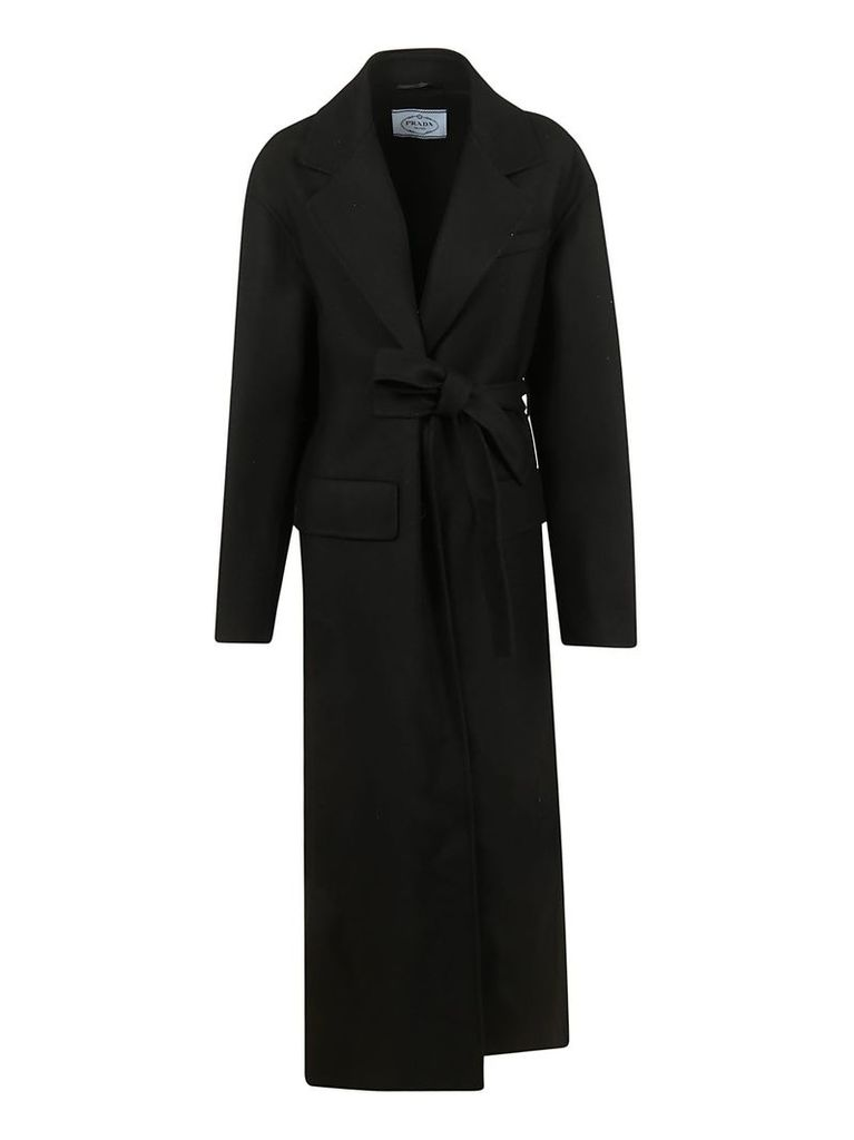 Prada Single Breasted Long Coat