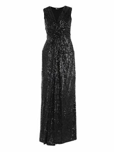 Parosh Sequin Coated Sleeveless Dress