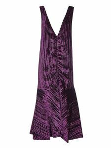 Kenzo Gathered V-neck Dress