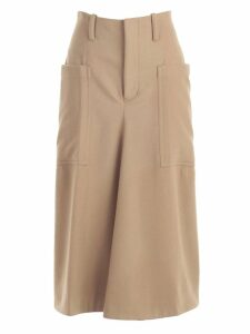 Y`s Flared Midi Skirt