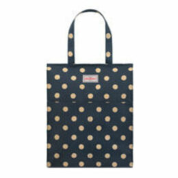 Button Spot Pocket Zipped Shopper