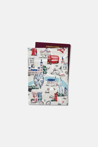 Small London Map Passport Holder