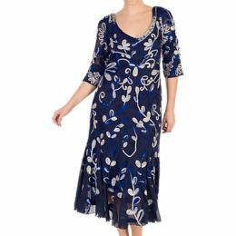Chesca Cornelli Dress, Cobalt