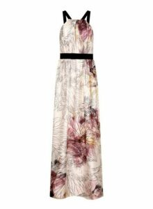 Womens **Little Mistress Multi Floral Print Midi Dress- Multi Colour, Multi Colour