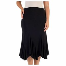 Chesca Pleat Hem Skirt, Black