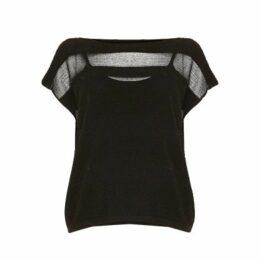 Damsel in a Dress Steffi Stripe Shimmer Top, Black