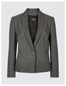 M&S Collection Short Checked Blazer