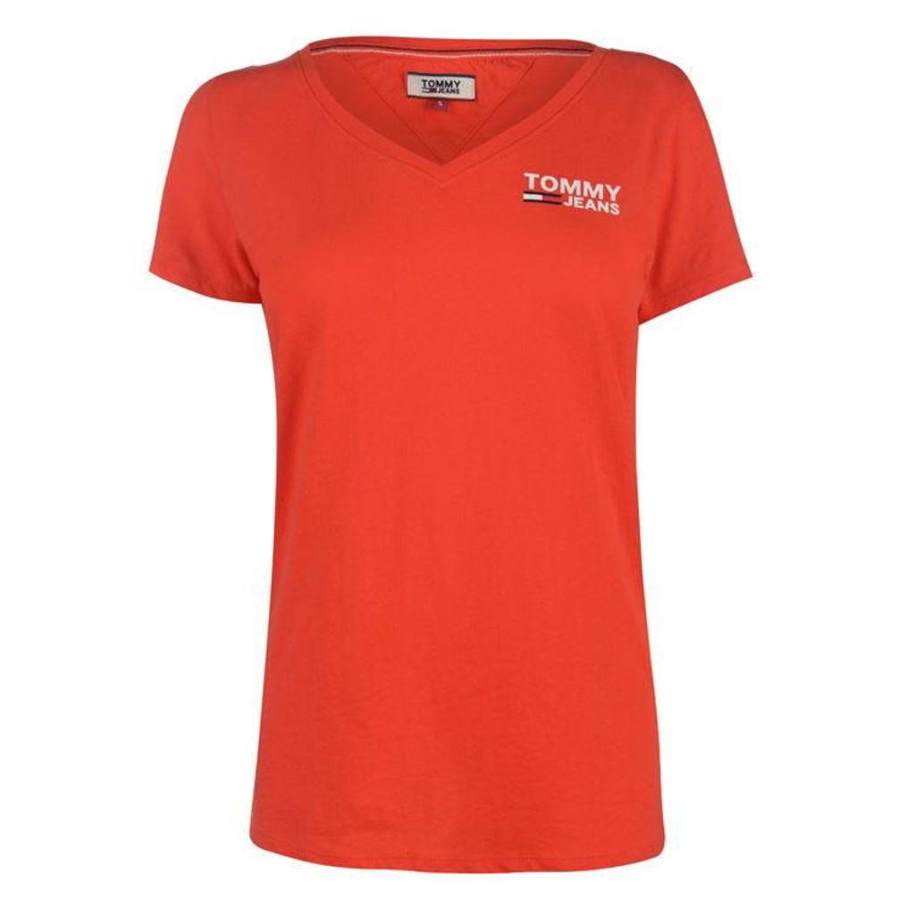 Tommy Jeans V Neck T Shirt