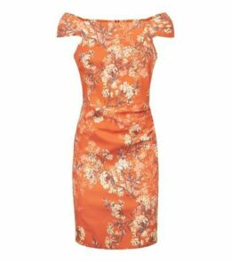 Apricot Orange Blossom Square Neck Dress New Look