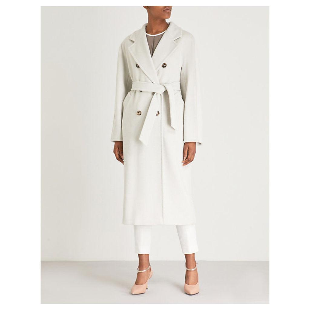 Max Mara Women's White Madame Double-Breasted Coat