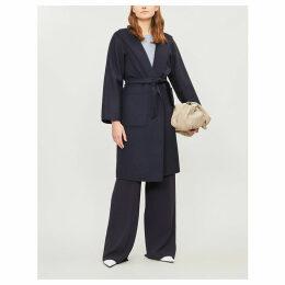 Max Mara Women's Navy Blue Lilia Cashmere Wrap Coat