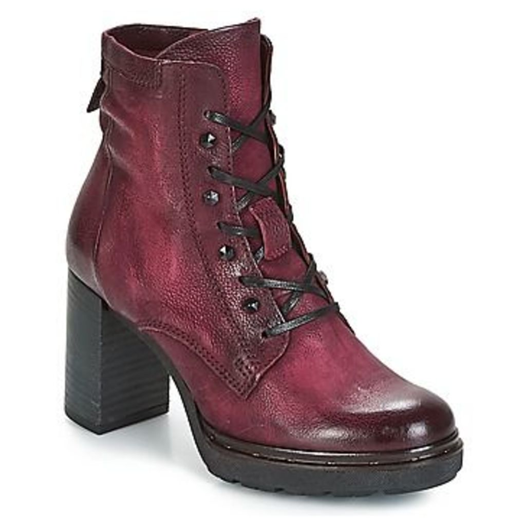 Mjus  CERTA LACE  women's Low Ankle Boots in Red