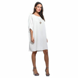Anabelle  Loose dress, short sleeves  women's Dress in White