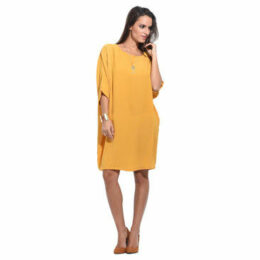 Anabelle  Loose dress, short sleeves  women's Dress in Yellow