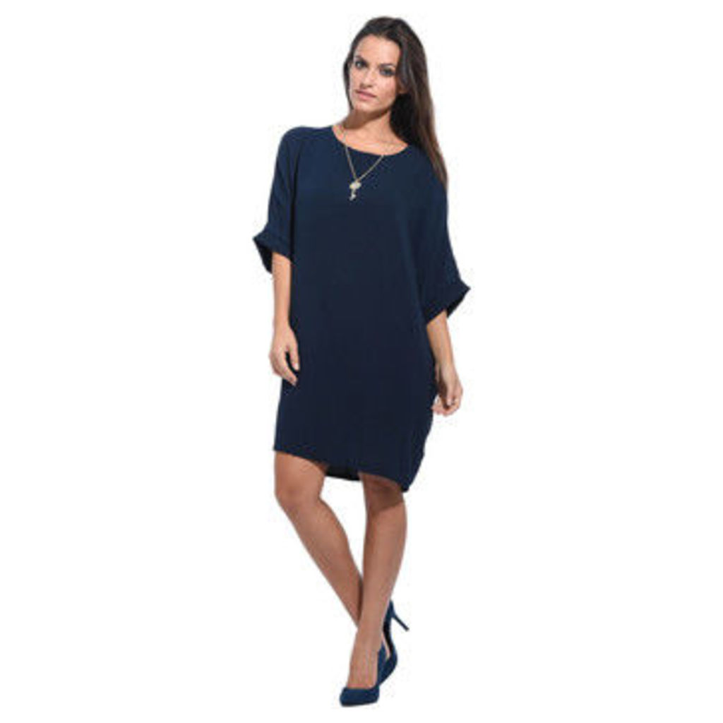 Anabelle  Loose dress, short sleeves  women's Dress in Blue