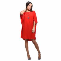 Anabelle  Loose dress, short sleeves  women's Dress in Red