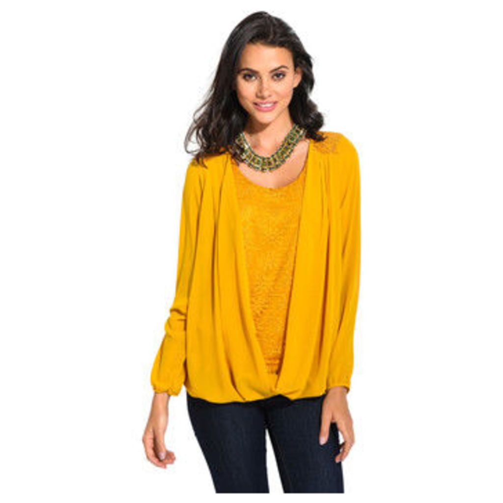 Anabelle  Heart-effect blouse  women's Blouse in Yellow