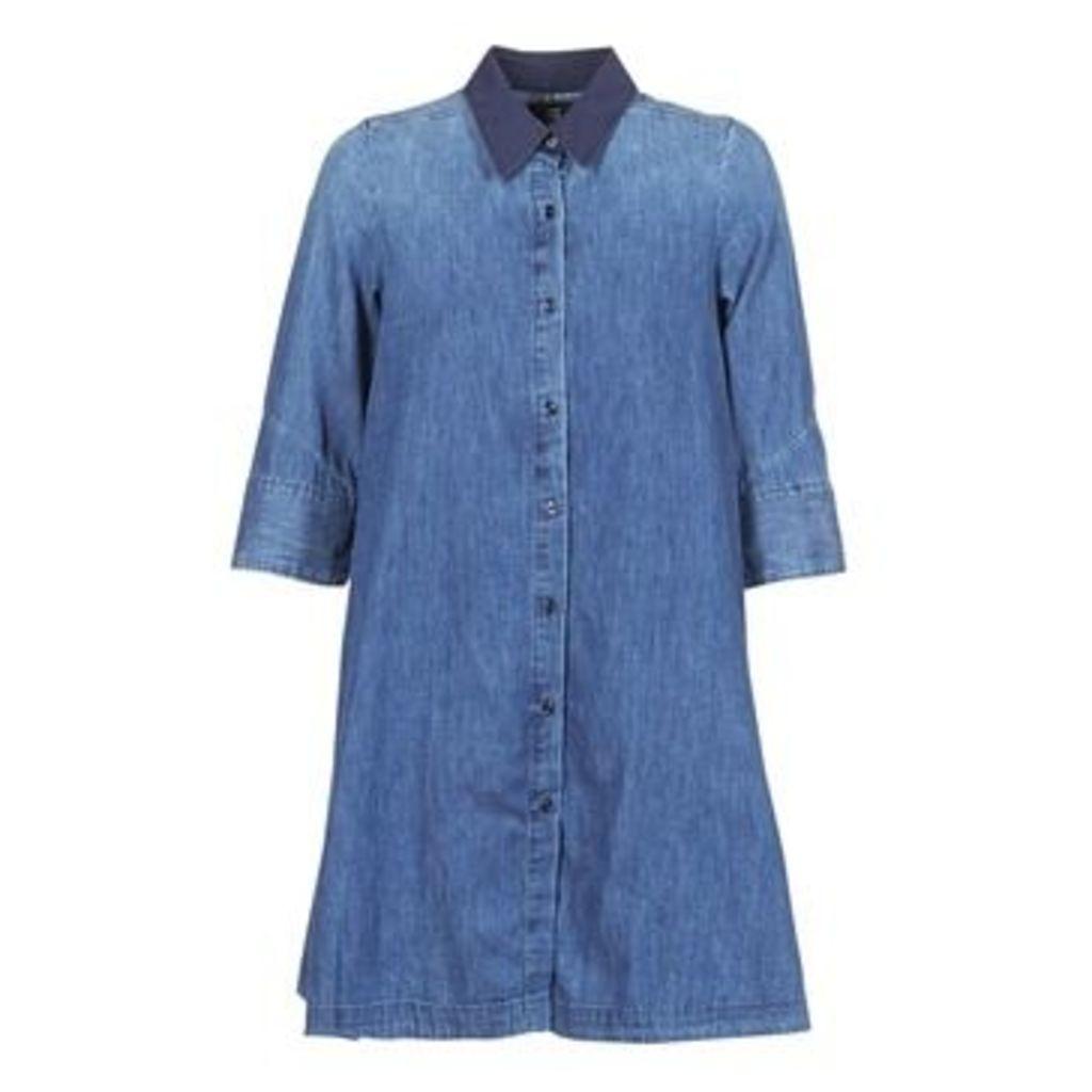 G-Star Raw  DELINE DRESS 3/4  women's Dress in Blue