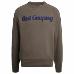Best Company  hunter green and blue cotton roundneck fleece  women's Sweatshirt in Green