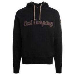 Best Company  black and mud cotton hoodie  women's Sweatshirt in Black