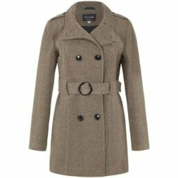 De La Creme  Wool Belted Winter Coat  women's Trench Coat in Brown