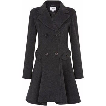De La Creme  Wool Winter Double Breasted Fit and Flare Winter Coat  women's Coat in Grey