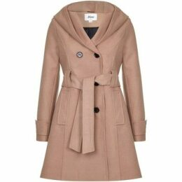 De La Creme  Winter Hooded Coat  women's Trench Coat in Beige