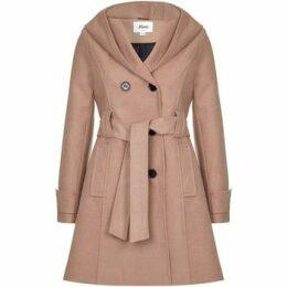 De La Creme  Winter Hooded Coat  women's Trench Coat in Beige