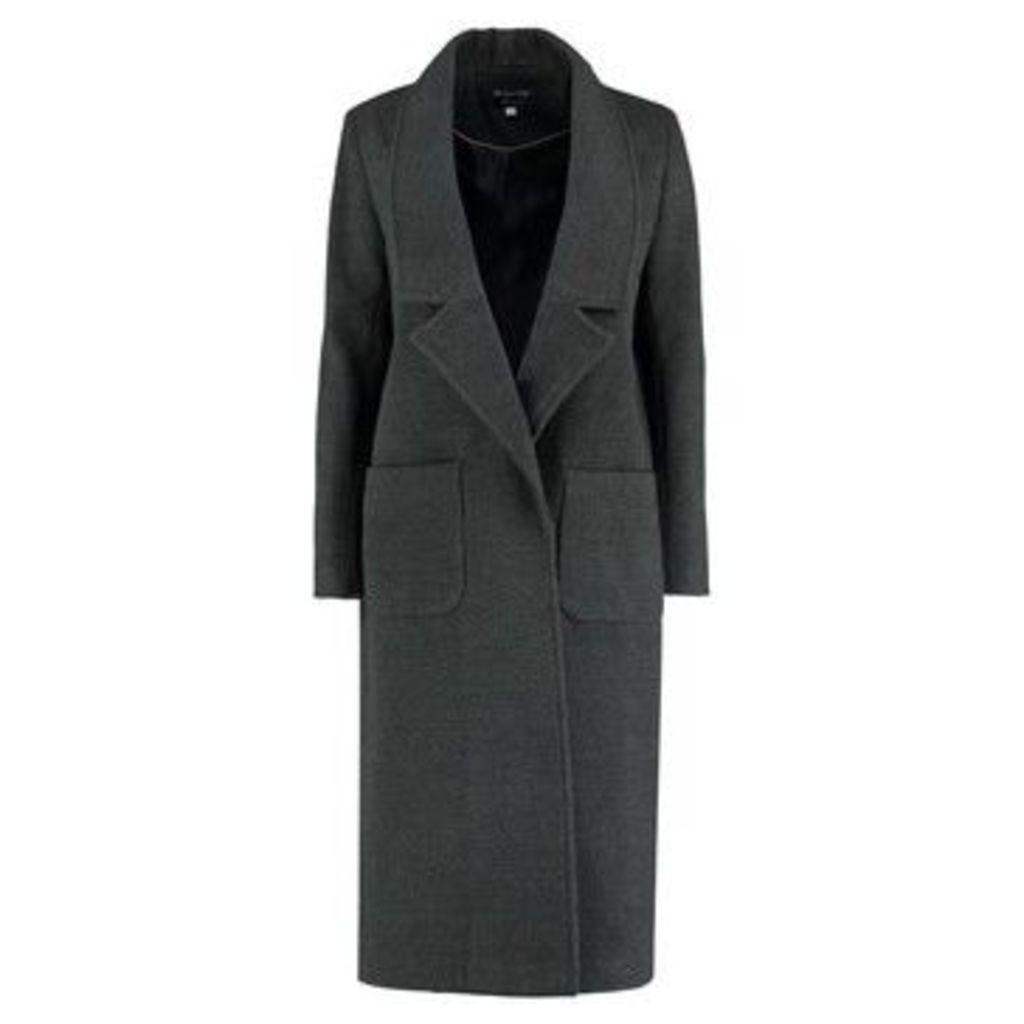 De La Creme  Winter Long Coat  women's Coat in Grey