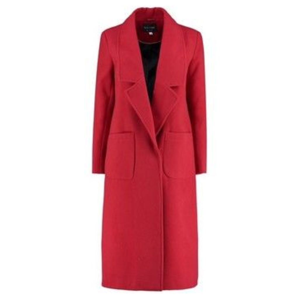 De La Creme  Winter Long Coat  women's Coat in Red