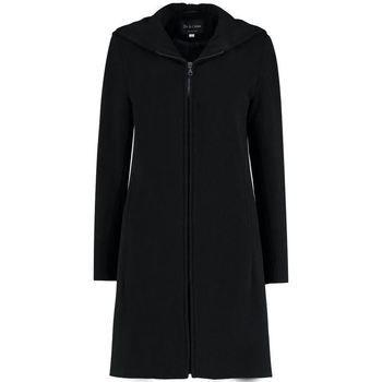 De La Creme  Cashmere Wool Hooded Winter Coat  women's Coat in Black