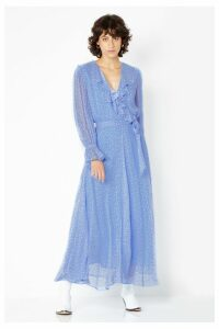 Womens Ghost London Blue Printed Midi Dress -  Blue