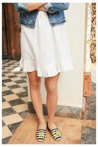 Womens Next Frill Sun Dress -  White