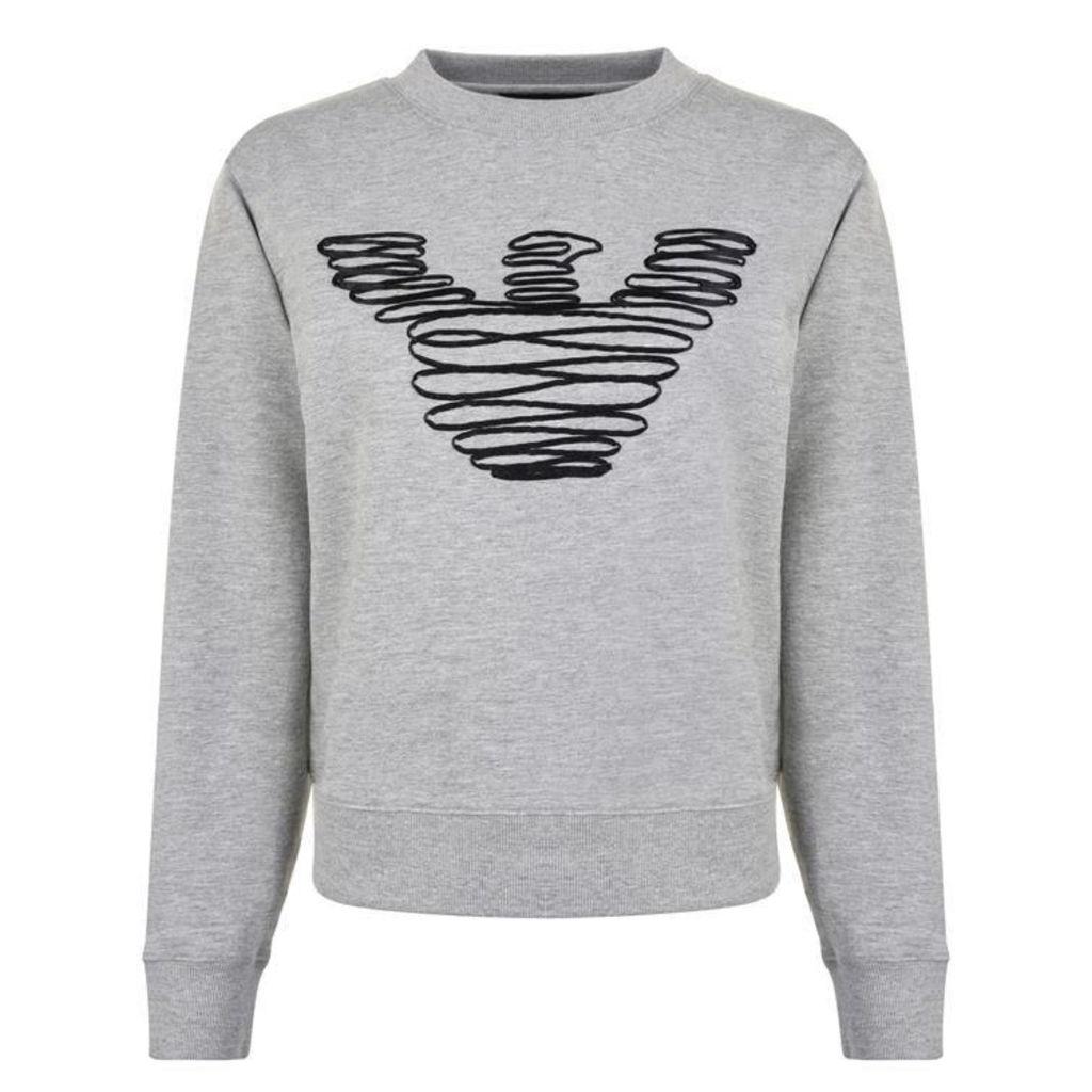 EMPORIO ARMANI Satin Logo Sweatshirt