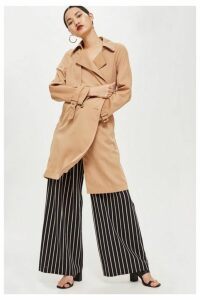 Womens Double Breasted Trench Coat - Natural, Natural