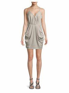 Sleeveless Surplice Mini Dress