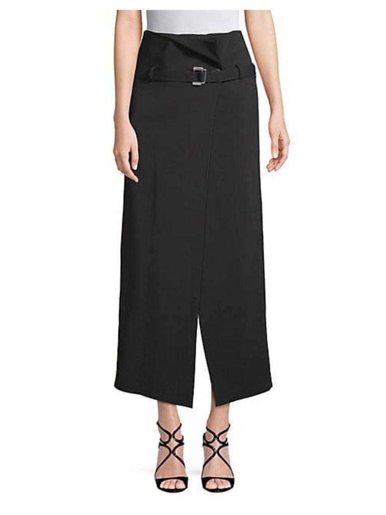 Belted High-Waist Skirt
