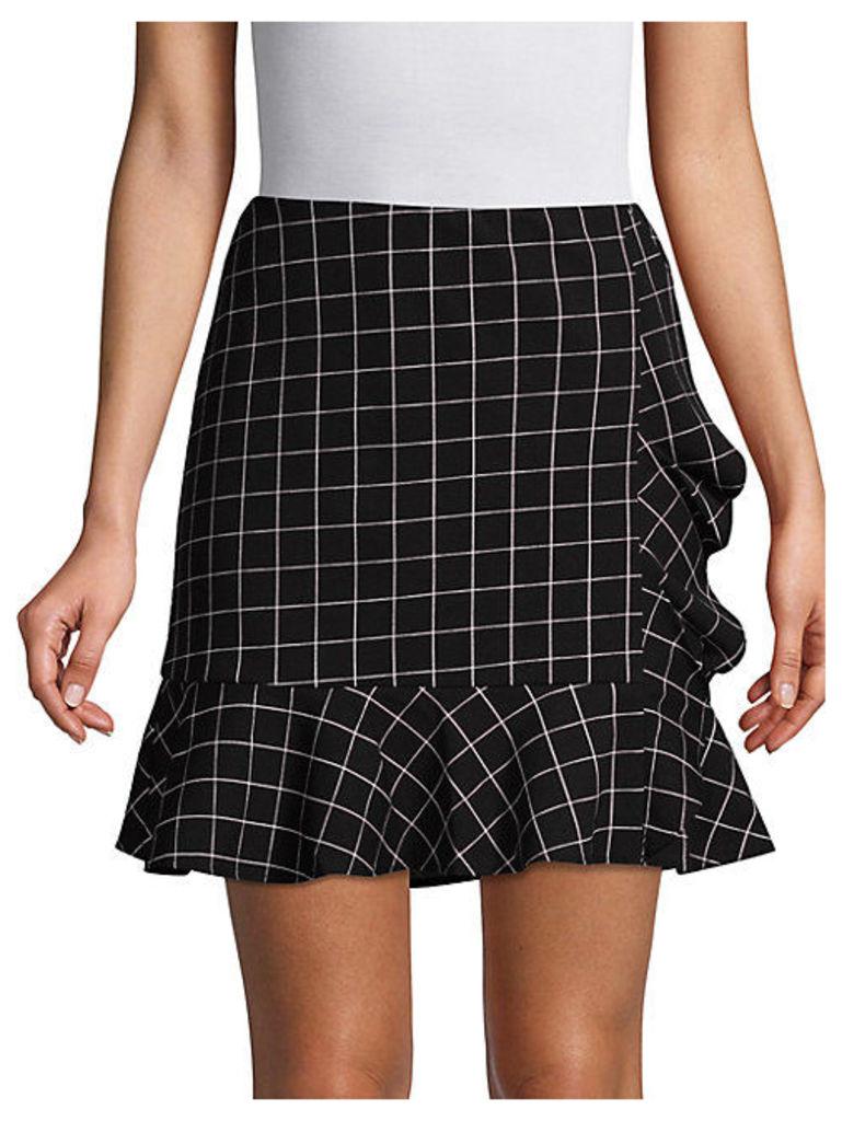 Mac Windowpane Ruffle Skirt