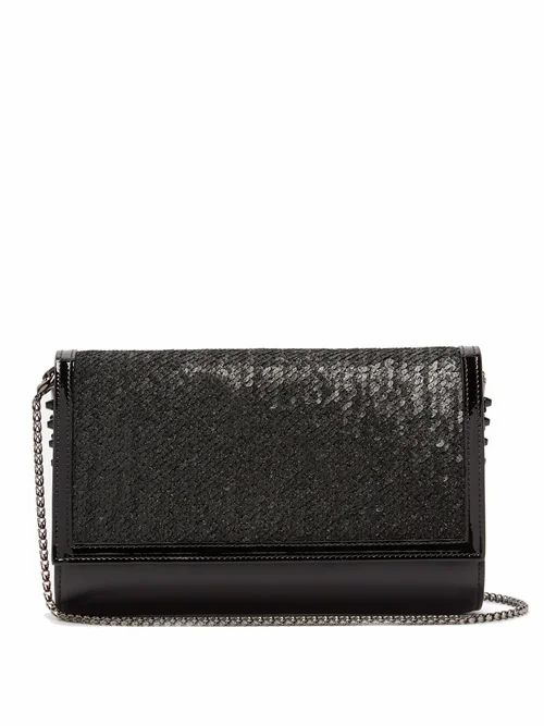 Christian Louboutin - Paloma Sequin Embellished Clutch Bag - Womens - Black