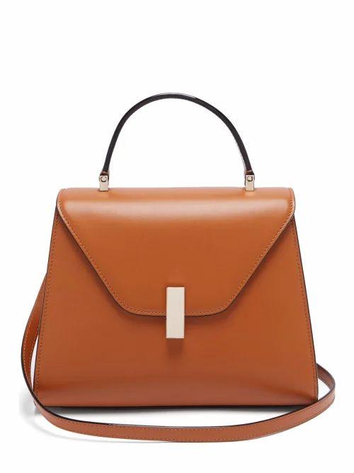 Valextra - Iside Medium Leather Bag - Womens - Tan