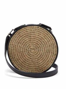 Khokho - Sindi Leather Trimmed Basket Bag - Womens - Black Cream