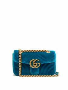 Gucci - Gg Marmont Mini Quilted Velvet Cross Body Bag - Womens - Green