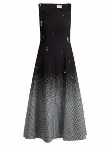 Erdem - Polly Crystal Embellished Cotton Blend Dress - Womens - Black Multi
