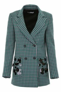 Vivetta Check Blazer With Sequins