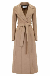 Harris Wharf London Long Coat With Belt