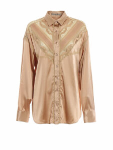 Ermanno Scervino Lace Insert Satin Shirt