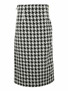 Off-White Taped Houndstooth Skirt
