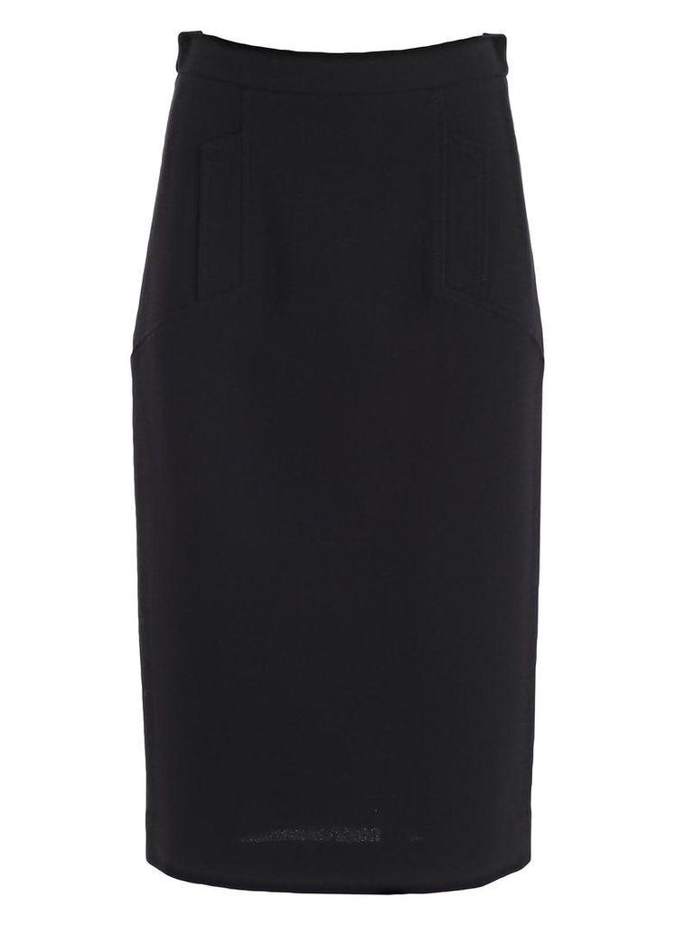 Parosh Straight Fit Midi Skirt
