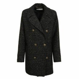 Saint Laurent Metallic Wool Coat